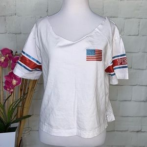 PINK Victoria's Secret Red White & Blue T-Shirt